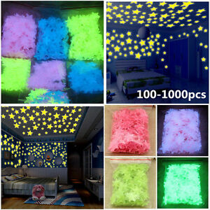 100-Wall-Glow-In-The-Dark-Star-Stickers-Kids-Bedroom-Nursery-Room-Ceiling-Decor