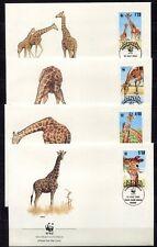 s3731) KENYA 1989 MNH** WWF, Reticulated Giraffe 4v FDC