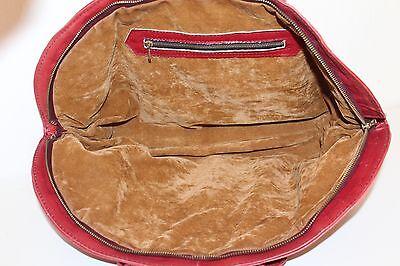 70er 70s TRUE Vintage Echt LEDER Tasche Satchel LEATHER BAG Henkeltasche Hippie