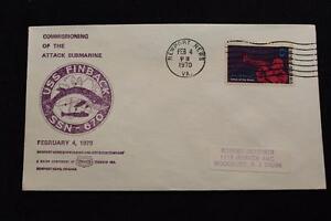 Marine-Abdeckung-1970-Maschine-Stempel-Commissioning-Uss-Finback-SSN-670-3738