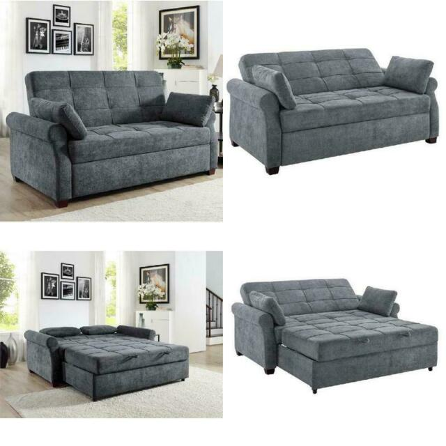 Futon Sofa Bed Couch Beds Gray Grey
