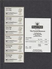 GB 2016  Post & Go Postal Museum Machin Head Collectors unmounted Strip mint