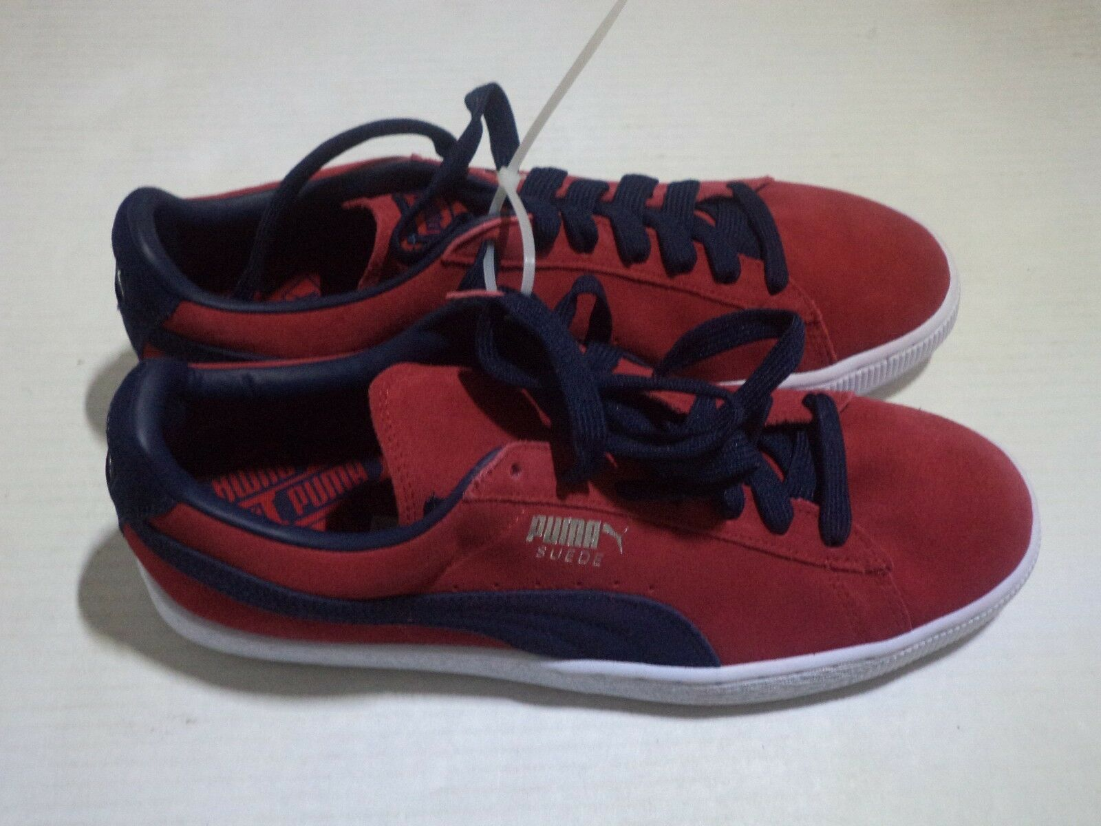PUMA Men's Suede Classic + Fashion Sneaker 8.5 - 12 color Navy bluee & Cherry Red