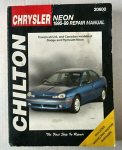 chilton chrysler neon 1995 1999 repair manual 20600 ebay rh ebay com 2002 chrysler neon owners manual chrysler neon 1996 repair manual