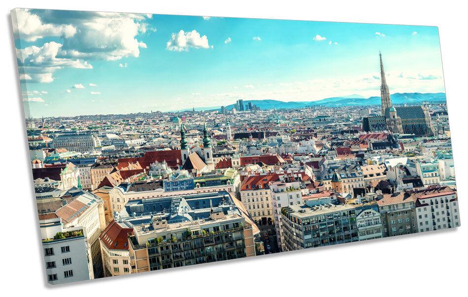 Ciudad de Viena Austria horizonte panorámicas de Lona Pa Pa Pa rojo  Arte Cuadro Marco 1d1d47