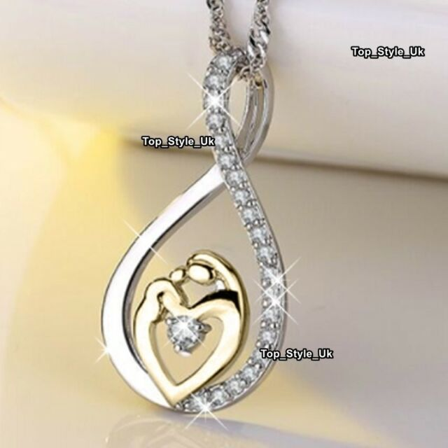 infinity mother daughter necklace 18k white gold gifts for her mum