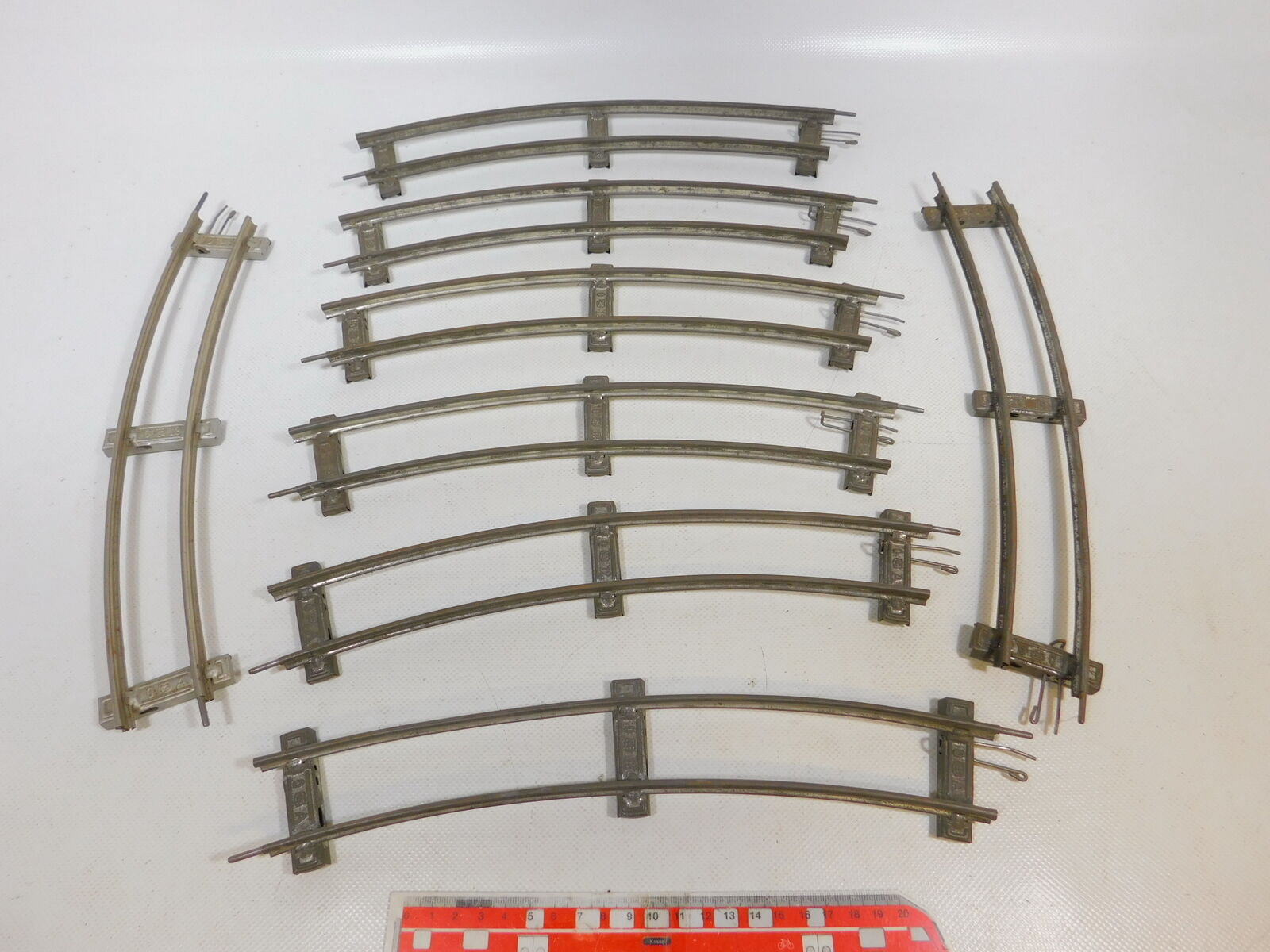 CD512-1  8x Märklin Spur 0 Gleis gebogen 12er 12 er Kreis für Uhrwerk-Betrieb