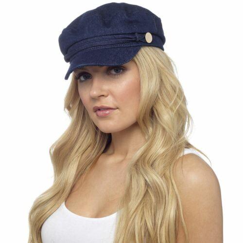 Ladies Undercover Denim Baker Boy Cap Peaked Newsboy Hat