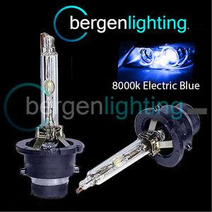 2x 8000k D2r Xenon Headlight Bulbs Electric Blue For Bmw Mini Cooper