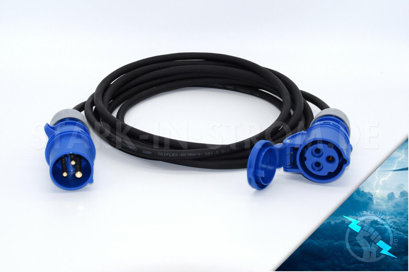 230V CEE Verlängerungskabel (Camping Kabel) Länge Wählbar 10-50 Meter   1,5 mm ²    Zu einem erschwinglichen Preis