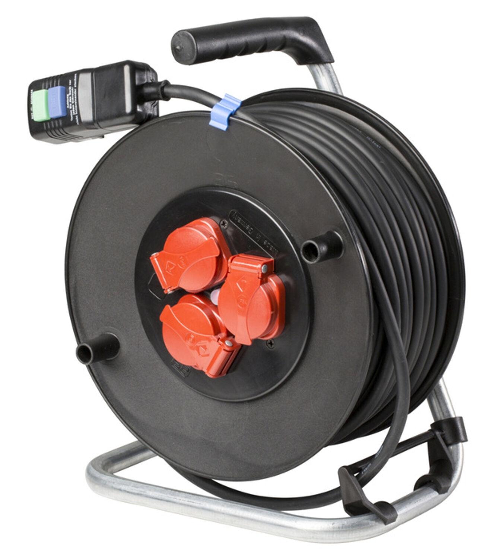 AS-Schwabe PRCD Sicherheits Kabeltrommel 285mm Durchmesser 40m H07RN-F3G1,5 NEU