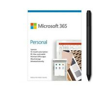 Microsoft 365 Personal 1 Yr Subscription - 1 User w/ Charcoal Surface Pen
