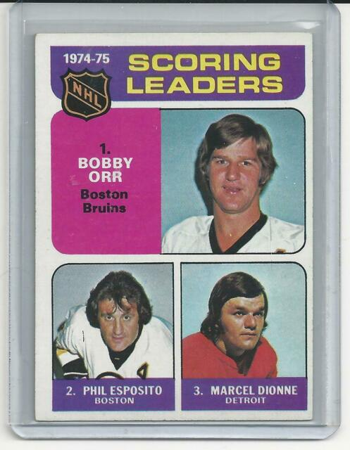 1975-76 Topps SCORING LEADERS #210 ORR ESPOSITO DIONNE-Bruins Red Wings