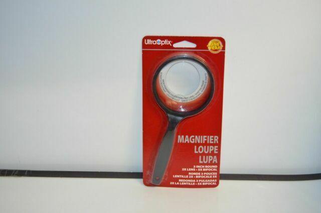 UltraOptix 3 Inch Round Quality Magnifer 2X 5X Unbreakable /& Scratch Resistant