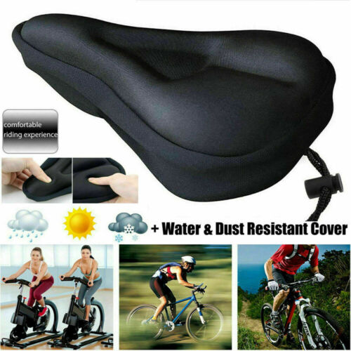 Bike EXTRA Comfort Soft Gel Pad Comfy Cushion Saddle Seat Cover Cycle Bicycle