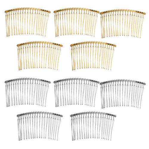 10x 20 Teeth Fancy Metal Wire Hair Clip Combs Handmade Bridal Wedding Veil Combs