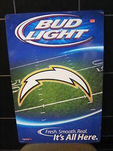San Diego Chargers Nfl Bud Light Original Beer Sign Ebay