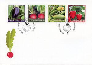 Liechtenstein-2018-FDC-culture-plantes-legumes-4-V-Set-Cover-Nature-timbres