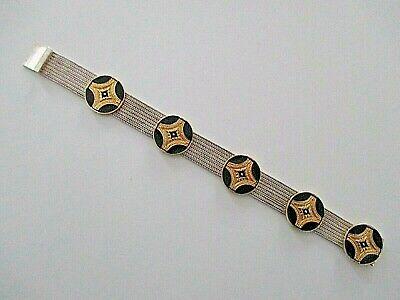 KüHn Silber Armband ° Schwarzemaille ° 925 Schmuck & Accessoires 1000 ° Silberschmuck °