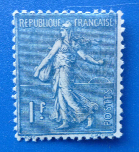 1924 FRANCE BLUE SOWER 1C MINT STAMP SG 425