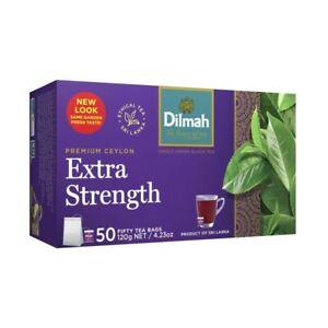 Dilmah Extra Strength Premium Ceylon Tea Bags 50 Pack 120g