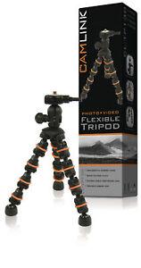 Camlink-Flexible-Travel-DSLR-Camera-Mini-Tripod-18cm-0-5kg-Black-Orange