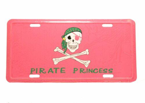 Pirate Princess Pink Aluminum Auto License Plate Car Truck Tag Metal Sign New