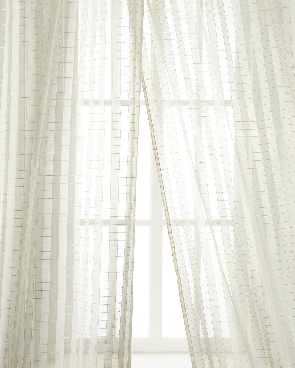 100% silk sheer drapes  by Neiman Marcus