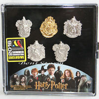 Monogram Harry Potter Crests 5 Lapel Pin Jewelry Set 2016 Summer Convention Exc.