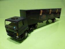 LION CAR DAF 75 300 ATI TRUCK + TRAILER - AGIO CIGARS - BLUE 1:50 - GOOD COND