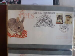 AUSTRALIA-1991-PETS-SET-2-STAMPS-CACHET-CLAREMONT-FDC-FIRST-DAY-COVER