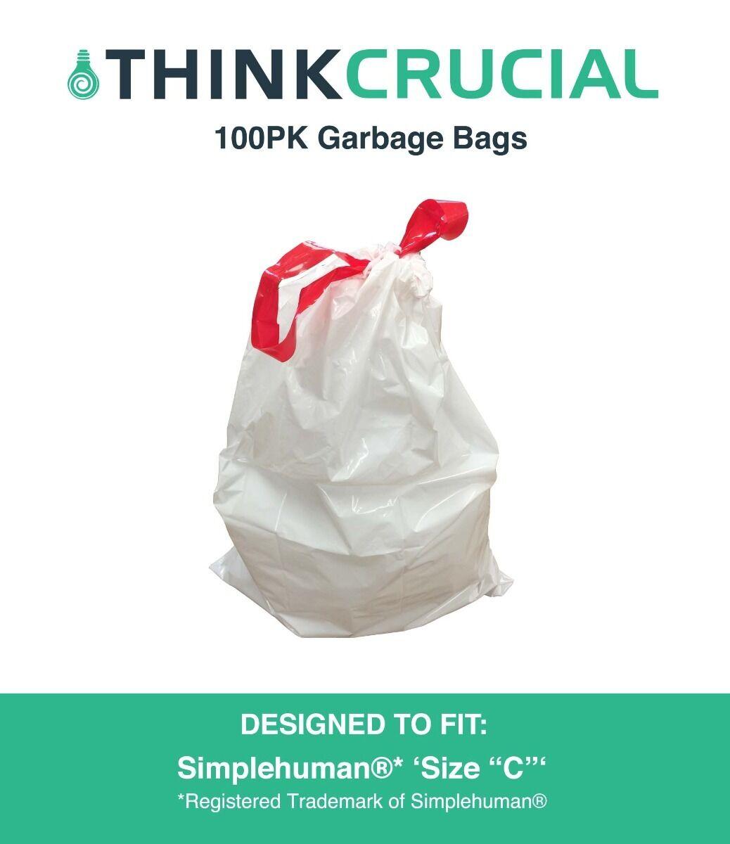 100 REPL Simplehuman® Durable Garbage Bags Größe C 10-12L   2 Gallon