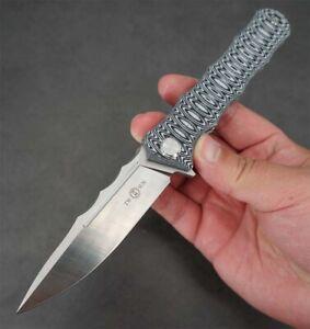 New Twosun Survival 14C28 G10 Fast Open Flipper Folder Knife TS165-G10-Oval