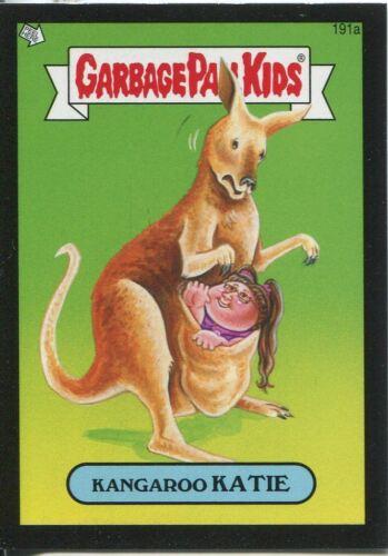 Garbage Pail Kids Mini Cards 2013 Black Parallel Base Card 191a Kangaroo KATIE