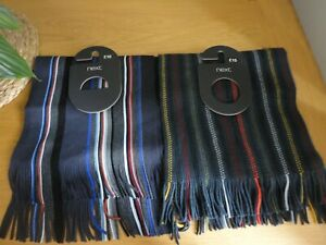 Next-Mens-Striped-Scarf-Choice-of-Colours-BNWT-FREEPOST
