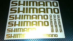10 X Shimano Vélo Autocollant Vinyle Autocollants Cadre Cycle Vélo-afficher Le Titre D'origine