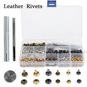 240 cuero tapa doble reMaches metal fijación kit de herramientas para arte cuero