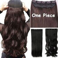 100%Thick 17-30 Inch 3/4 Full Head Clip In Hair Extensions,Brown Black Blonde LK