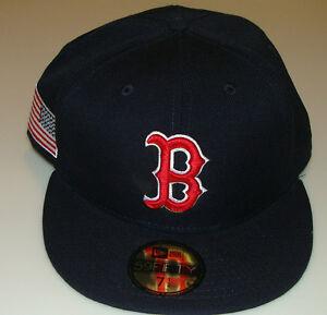 82c59c7d26dbf 2014 Boston Red Sox 7 3 4 New Pro Era Hat Cap Baseball MLB USA Flag ...