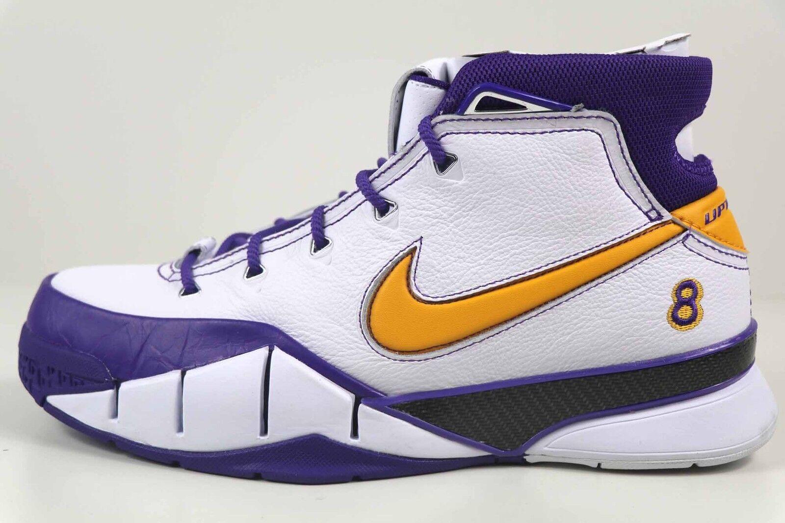 Nike Kobe 1 Predro White Del Sol Varsity Purple Final AQ2728 101 New