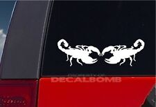 "set of 2 SCORPION decals / stickers - vinyl graphic 8"" x 5"""