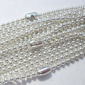10-pcs-Silver-Plated-2-4mm-ball-Necklace-chains-24-inch-length-A5498