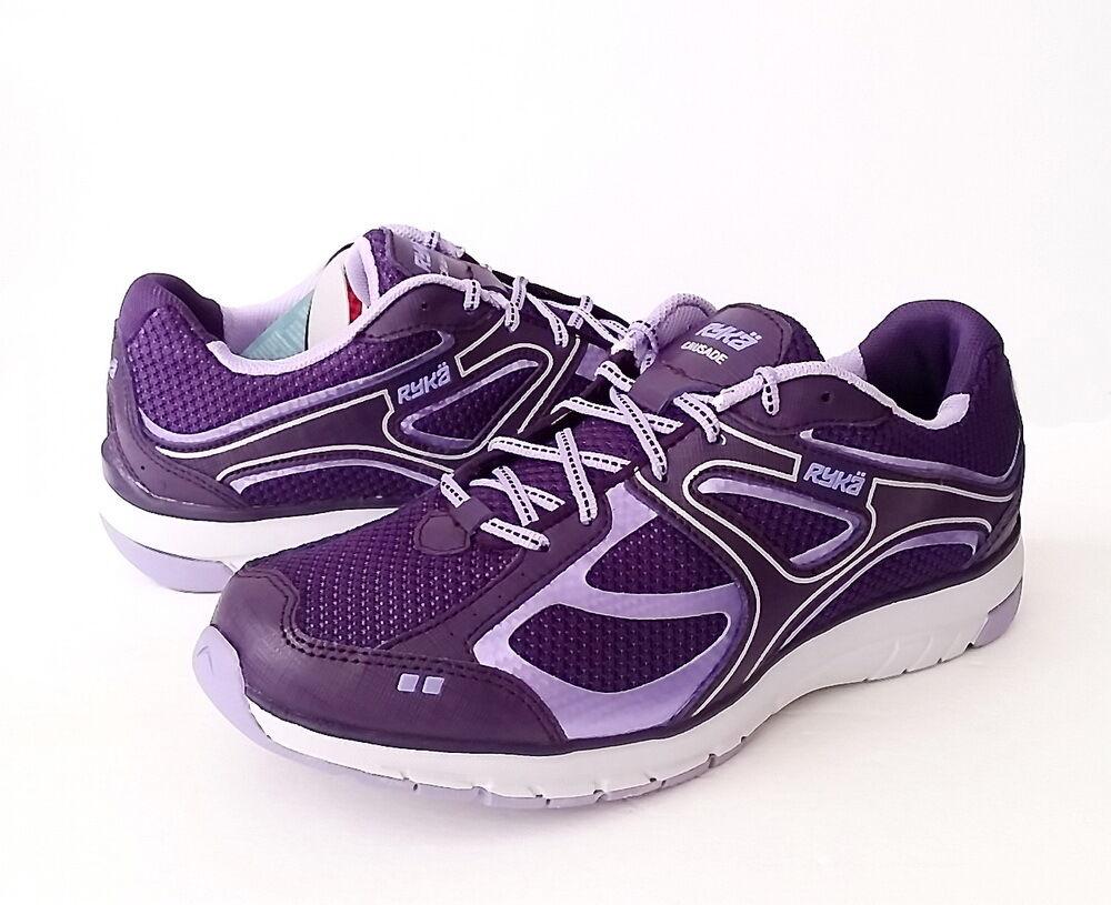 NWB Women's Ryka Crusade Running Shoe Size 7.5 (US)  Purple/Violet/Silver/Grey