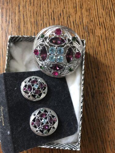 Vintage Signed Sarah Coventry Springtime Pin and E