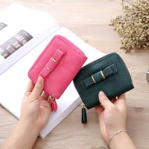 New-Top-Women-Mini-Bowknot-Purse-Zipper-Small-Clutch-Wallet-Card-Holder-Bag-UK