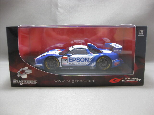 32 EPSON NSX blancoo azul 2008 SUPER GT GT500 Bugzees 1 32 Scale Diecast Model