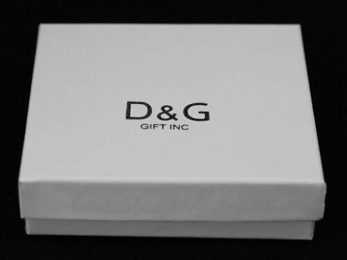 BOX DG Men/'s 925 Sterling Silver CROSS 41mm CZ Eternity Charm Pendant
