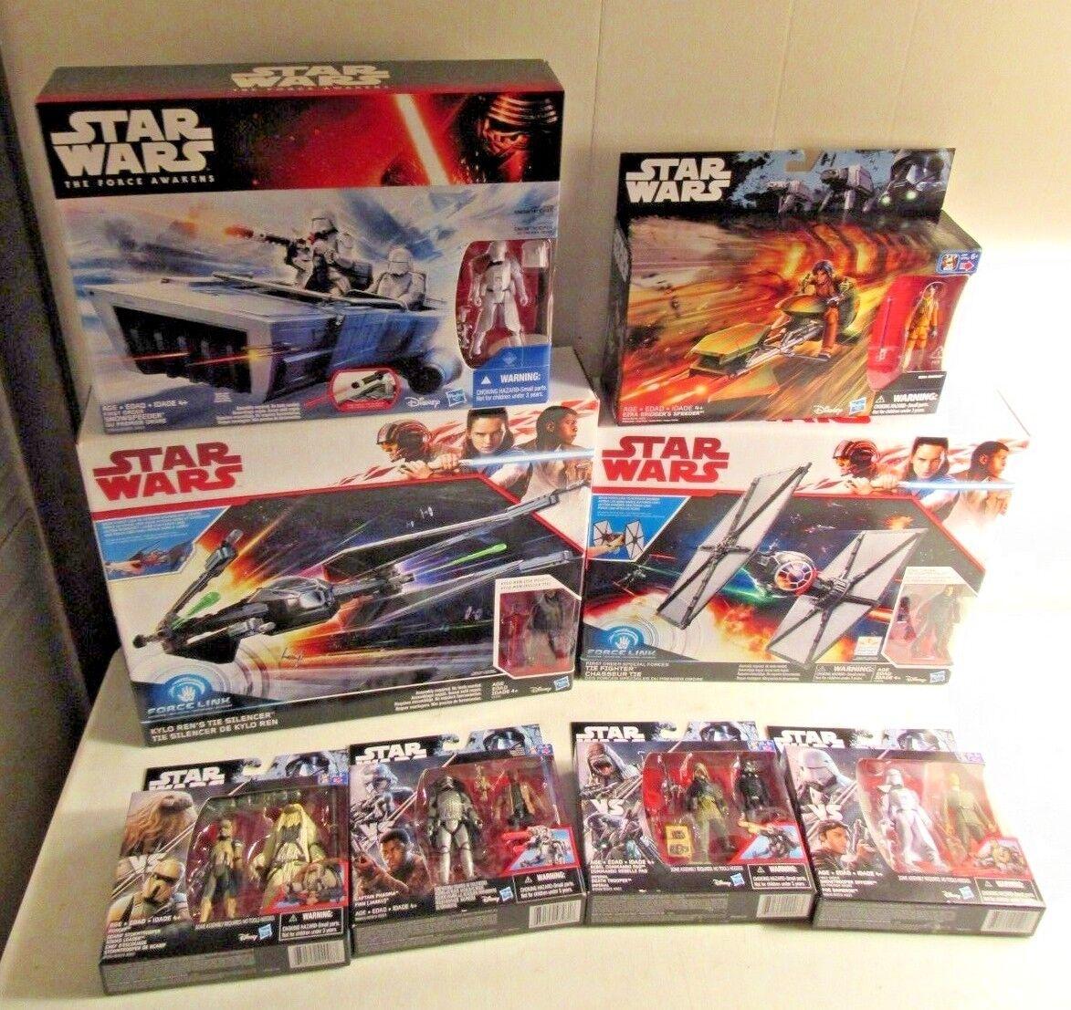 Star Wars The Force Awakens NIB lot of 4 Vehicles & 4 Figures Snow Trooper + NEW