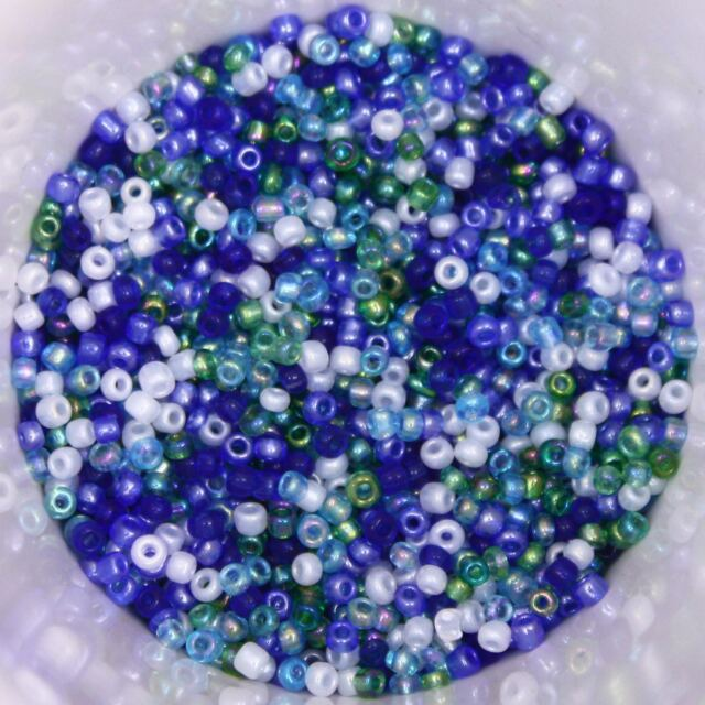 25g 2mm Glass Seed Beads Milk White