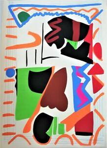 Aimable Shirley Jaffe Lithographie Signée Numérotée 1992 Abstraction